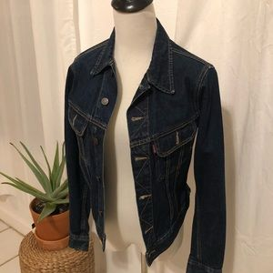 Buy 2 Get 1 free-Denim jeans jacket dark blue